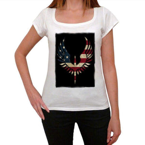 Usa Bald Eagle Womens Short Sleeve Round Neck T-Shirt 00111