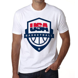 Usa Basketball Mens Short Sleeve Round Neck T-Shirt