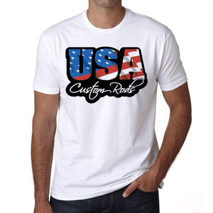 Usa Custom Rods Mens Short Sleeve Round Neck T-Shirt
