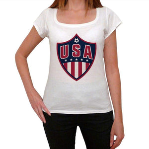 Usa Football Womens Short Sleeve Round Neck T-Shirt 00111