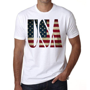 Usa Mens Short Sleeve Round Neck T-Shirt