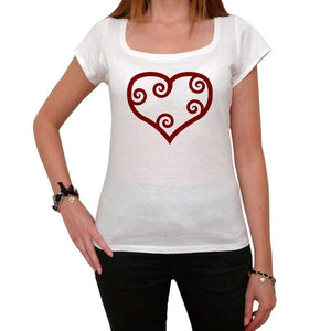 Valentine Red Maori Heart Tshirt White Womens T-Shirt 00157