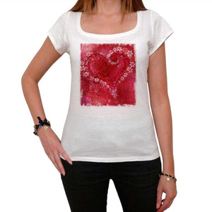 Valentines Day Flowers Tshirt White Womens T-Shirt 00157