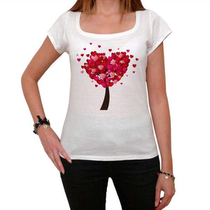 Valentines Day Heart Tree Tshirt White Womens T-Shirt 00157