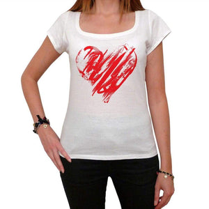 Valentines Day Heart Tshirt White Womens T-Shirt 00157