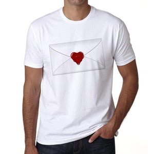 Valentines Day - Love Letter 2 Mens Tee White 100% Cotton 00156