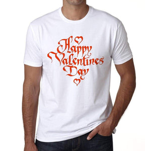 Valentines Day Mens Tee White 100% Cotton 00156