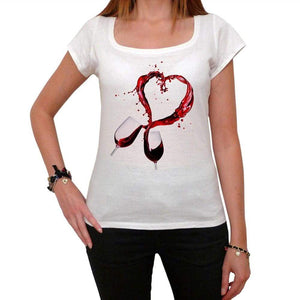 Valentines Day Vine Heart Tshirt White Womens T-Shirt 00157