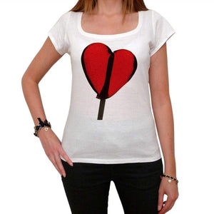 Valentines Lollipop Tshirt White Womens T-Shirt 00157