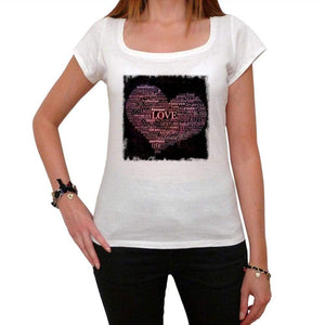 Valentines Words Of Love Tshirt White Womens T-Shirt 00157