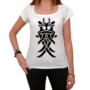 Viking Mask Tribal Tattoo Womens Short Sleeve Scoop Neck Tee 00161