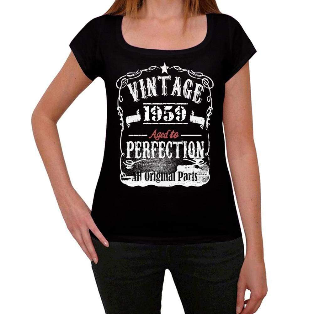 5486d9ac 'Vintage Aged to Perfection 1959 Women's T-shirt Black Birthday Gift -  Ultrabasic. '