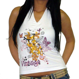 Vintage Bird:womens Top One In The City 00273