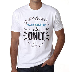 Warm-Hearted Vibes Only White Mens Short Sleeve Round Neck T-Shirt Gift T-Shirt 00296 - White / S - Casual