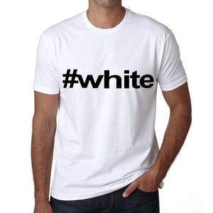 White Hashtag Mens Short Sleeve Round Neck T-Shirt 00076