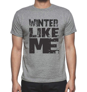 Winter Like Me Grey Mens Short Sleeve Round Neck T-Shirt - Grey / S - Casual