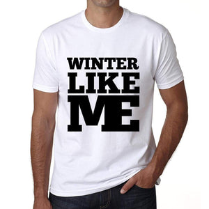 Winter Like Me White Mens Short Sleeve Round Neck T-Shirt 00051 - White / S - Casual