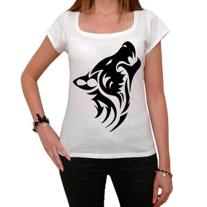 Wolf Tribal Tattoo Womens Short Sleeve Scoop Neck Tee 00161