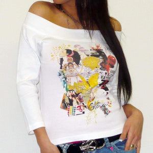 Womens 3/4 Sleeve Top One In The City Fiesta