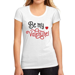 Womens Graphic T-Shirt Be My Valentine White - White / S / Cotton - T-Shirt