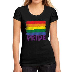 Womens Graphic T-Shirt LGBT Pride Deep Black - Deep Black / S / Cotton - T-Shirt