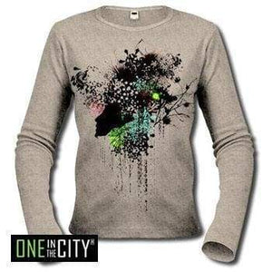 Womens Long Sleeve One In The City Fleur 00275