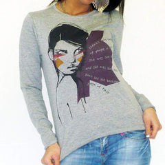 Womens Long Sleeve One In The City Najra 00275