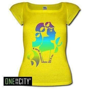 Womens T-Shirt One In The City Night And Day Short-Sleeve Top