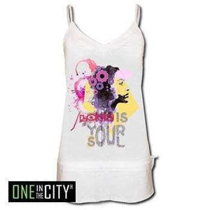 Womens Top One In The City Camille