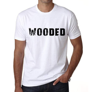 Wooded Mens T Shirt White Birthday Gift 00552 - White / Xs - Casual