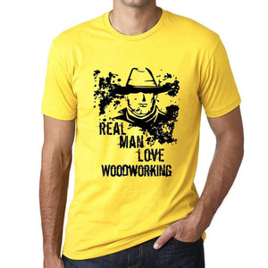Woodworking Real Men Love Woodworking Mens T Shirt Yellow Birthday Gift 00542 - Yellow / Xs - Casual
