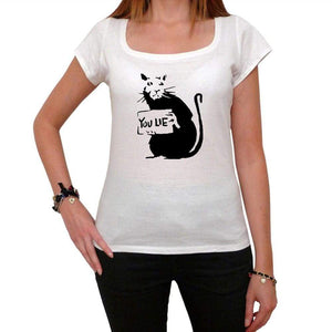 You Lie Rat Tshirt White Womens T-Shirt 00163