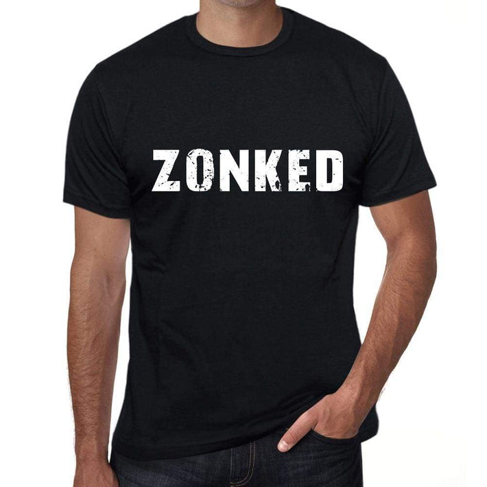 Zonked Mens Vintage T Shirt Black Birthday Gift 00554 - Black / Xs - Casual