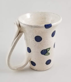 Blueberry Dot 12 Oz Mug - Earthenware - Annie's Art Farm