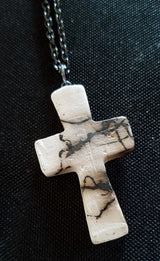 Horsehair Cross and Necklace