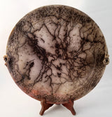 "Large Horsehair Platter w/hint of Spanish Moss 1 1/2""h x 12""w"