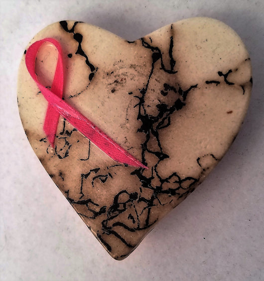 Horsehair Heart     w/Pink Ribbon