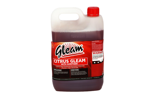 CITRUS GLEAM WITH SANITISER 5L