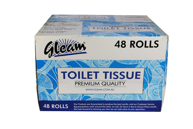 GLEAM 400 SHEET 2PLY TOILET PAPER 48 ROLLS