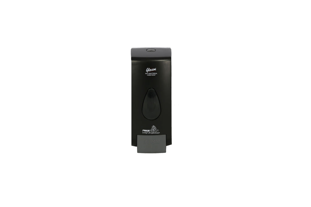 GLEAM PLASTIC BLACK FOAM SOAP DISPENSER 1 UNIT
