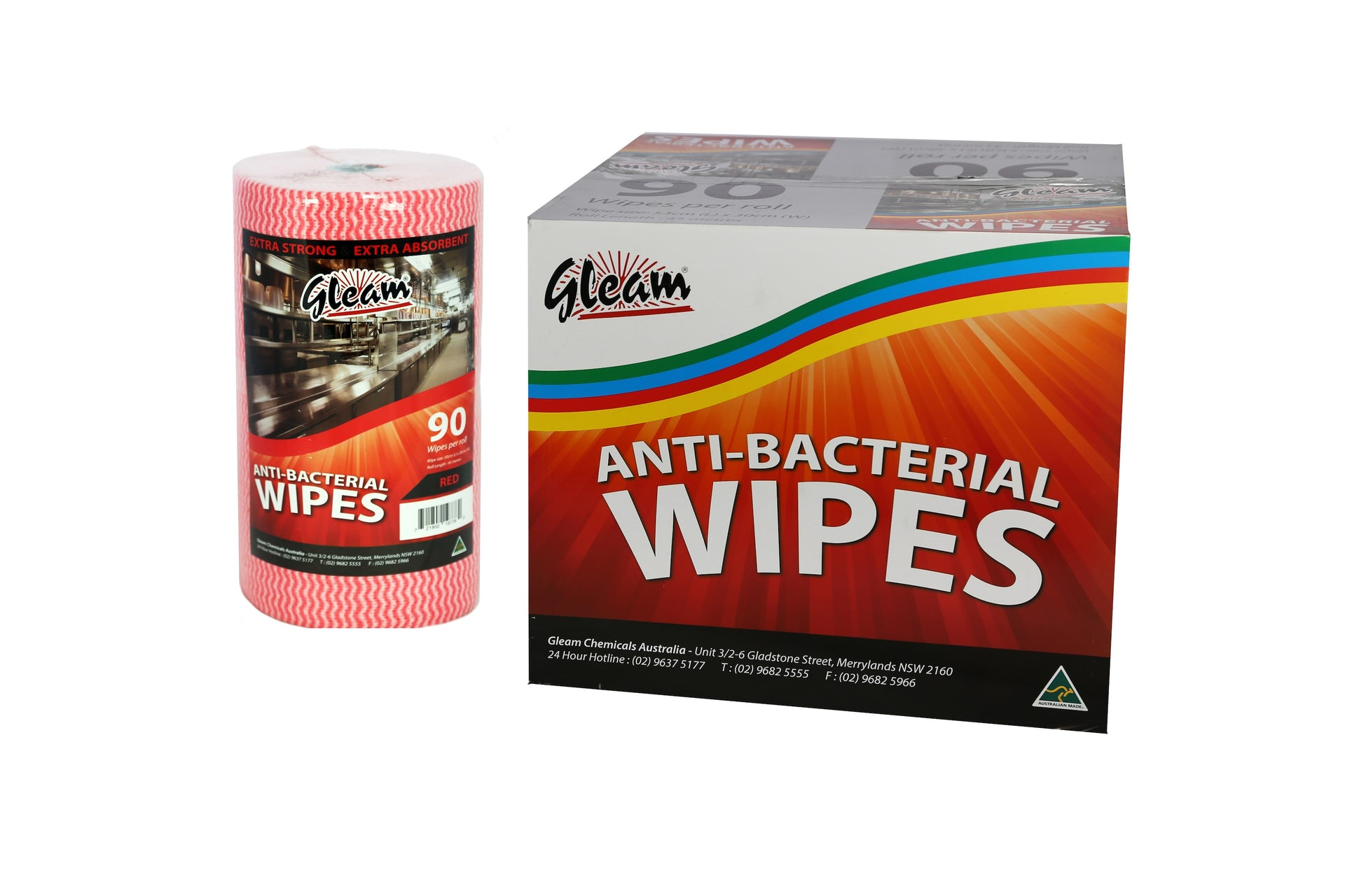 ANTIBACTERIAL FOOD SERVICE WIPES 4 ROLLS / CARTON