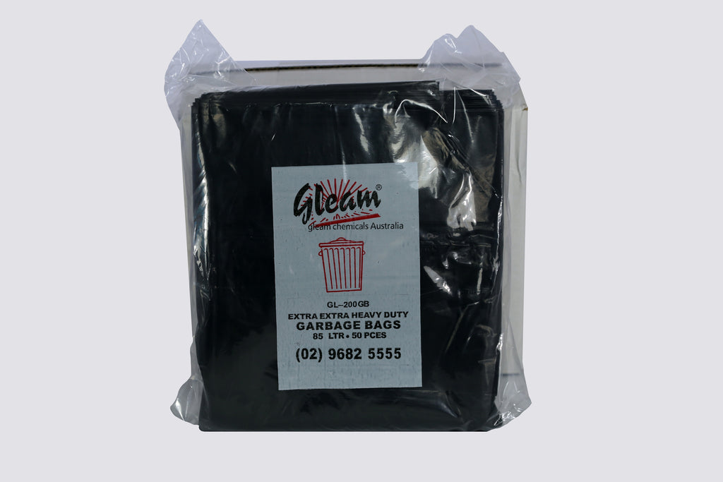 HEAVY DUTY GARBAGE BAGS 85L BLACK 200 UNITS