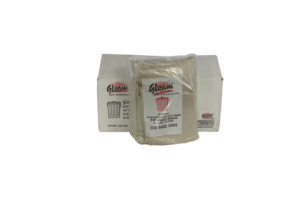 GARBAGE BAGS 120L CLEAR 200 UNITS