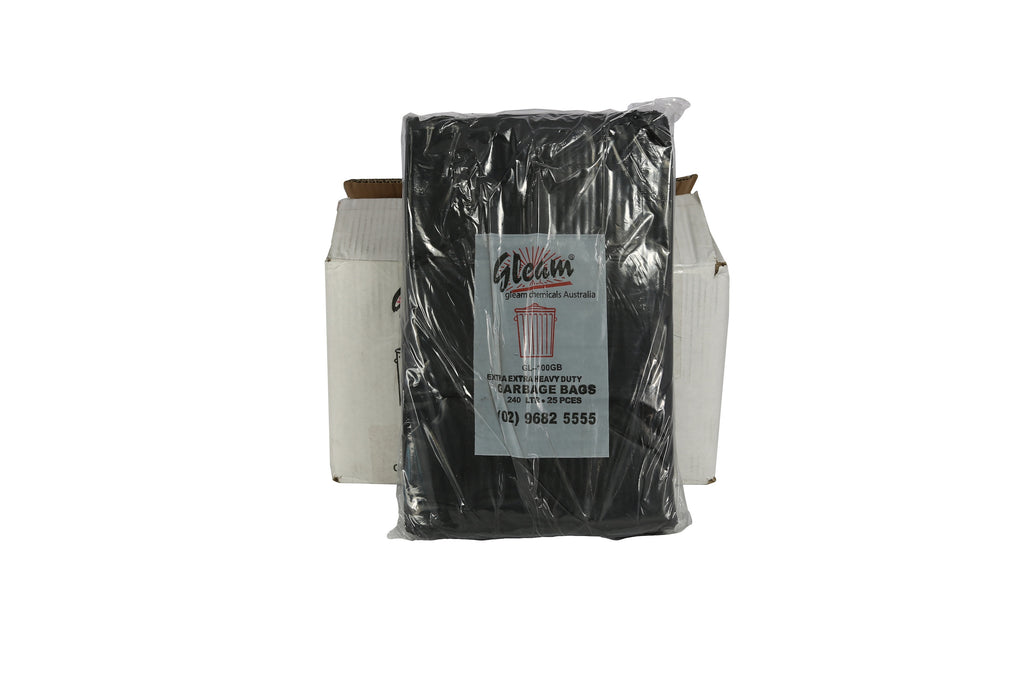 GARBAGE BAGS 240L BLACK 100 UNITS
