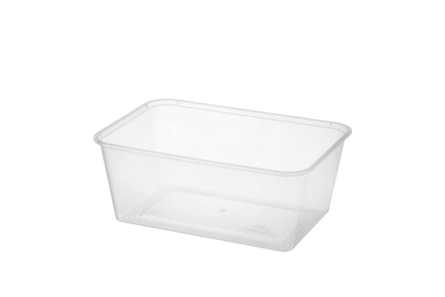 1000ML AUSTASIA CLEAR RECTANGLE TAKEAWAY CONTAINER 500 UNITS