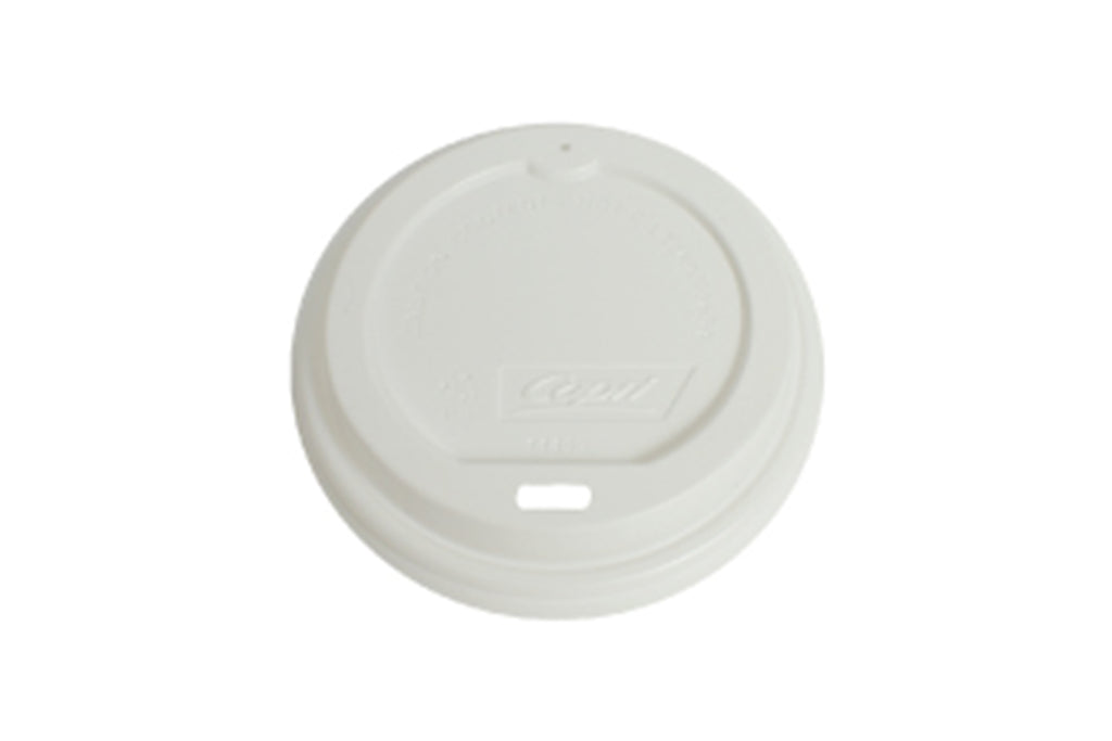 WHITE LIDS FOR BLACK COFFEE CUP WAVE GROOVE 12OZ 1000 UNITS