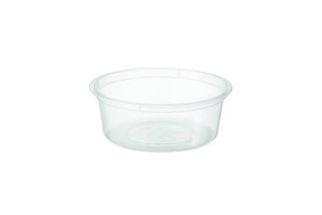 250ML ROUND CLEAR PLASTIC CONTAINERS 110X40MM 500 UNITS