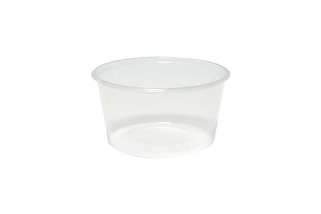 450ML ROUND CLEAR PLASTIC CONTAINERS 110X64MM 500 UNITS
