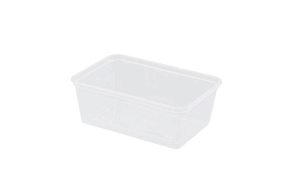 500ML AUSTASIA RECTANGLE CLEAR TAKEAWAY CONTAINER 500 UNITS