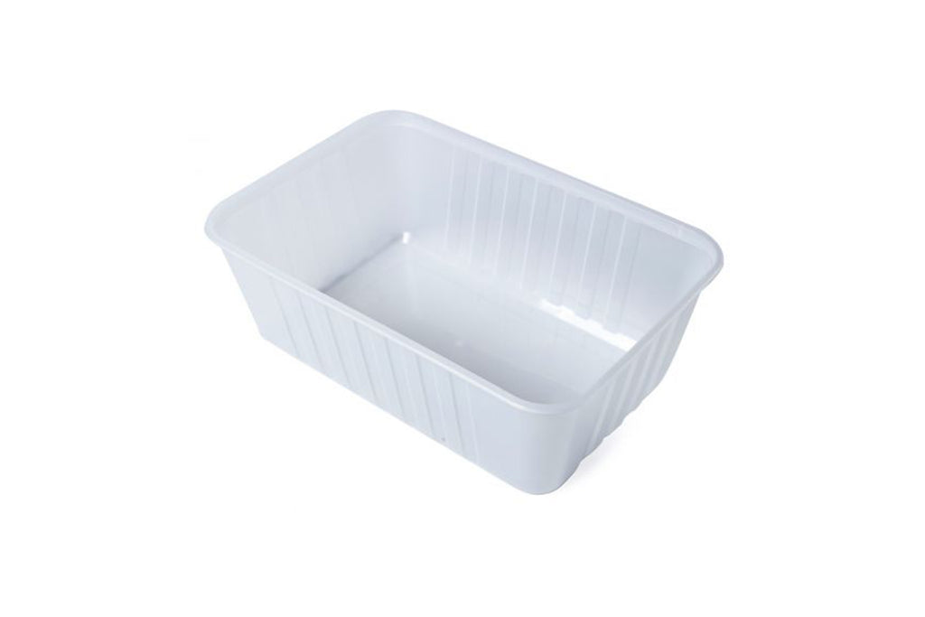 750ML GENFAC RIBBED CLEAR RECTANGLE CONTAINERS 500 UNITS